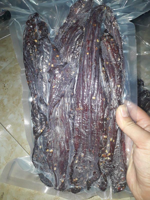 đóng gói thịt trâu gác bếp sapa